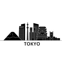 Tokyo japan architecture city skyline vector