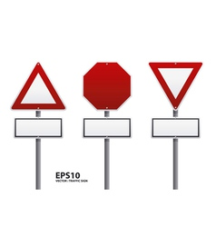Traffic sign red color vector