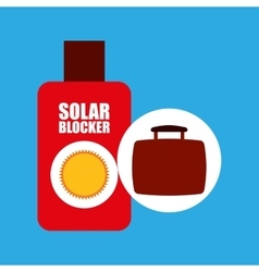 Travel concept sun cream protection vector