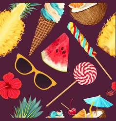 Tropic summer pattern vector