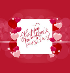 valentine s day postcard or invitation card for vector image