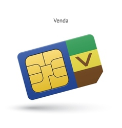 Venda mobile phone sim card with flag vector
