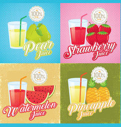 vintage fruit juice vector image