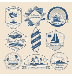 Vintage Outdoor Adventure Badges Logos Labels vector