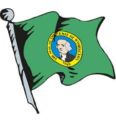 washington flag waving vector image