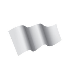 waving the white flag on a white background vector image