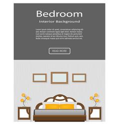 Website banner graceful bedroom interior vector