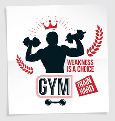 weight-lifting championship promotion flyer vector image