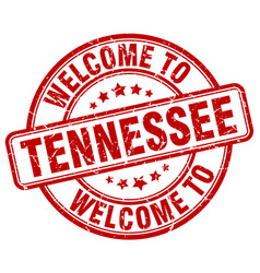 Welcome to tennessee red round vintage stamp vector