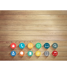 Wood plank background vector
