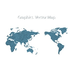 World Map Man icon and Information Graphics vector image