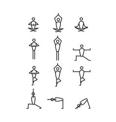 Yoga icons vector