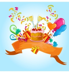 Celebration colored background vector image
