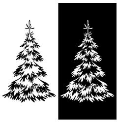christmas fir tree pictograms vector image vector image