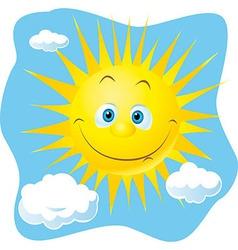 happy sun vector image
