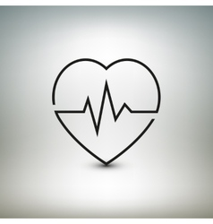 Heart beat icon healthcare and medical vector image vector image