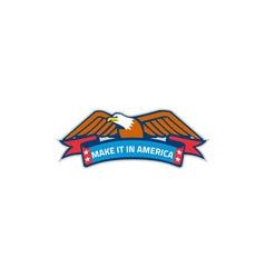 Make It In America Banner Eagle Retro vector image vector image