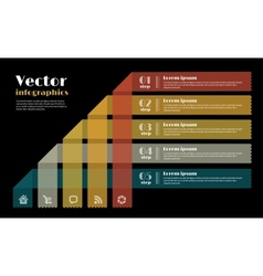 Modern Design template for infographics vector image