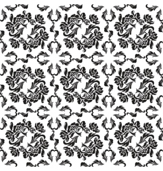 seamless background flowers floral - pattern vector image vector image
