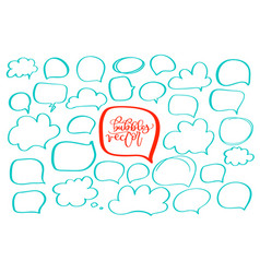 set of handdrawn doodle boobles for your text vector image