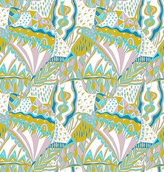 Traditional ornamental pattern Hand drawn colorful vector image vector image