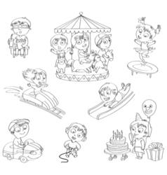 Amusement Park set vector image