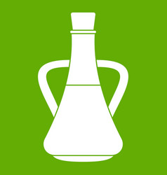 bottle with olive oil icon green vector image vector image