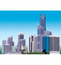 city graphic vector image