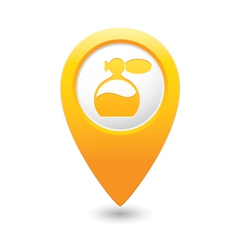 perfume icon yellow map pointer vector image vector image