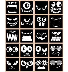 Avatars Black vector image vector image