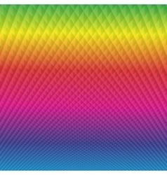 Bright rainbow with diamonds background vector