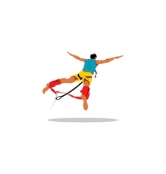 Bungy jumping sign vector image