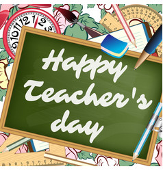 happy teachers day greeting card vector image vector image