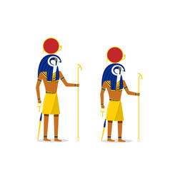 ra god of the sun isolated on white in art vector image