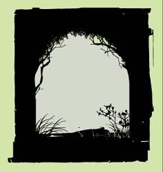 tree border vector image vector image