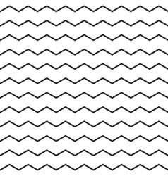 Zig zag chevron black and white tile pattern vector image vector image