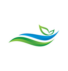 3d swirl leaf logo vector image