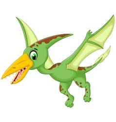 funny pterodactyl cartoon flying vector image vector image
