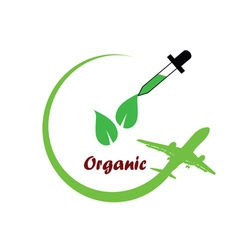 organic icon green vector image vector image