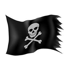Pirate flag 01 vector