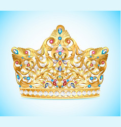 royal golden crown vector image