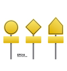 traffic sign yellow color vector image vector image