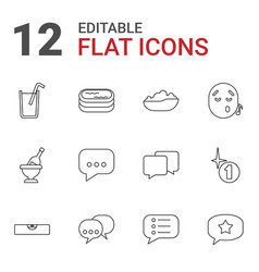 12 bubble icons vector