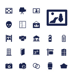 22 frame icons vector