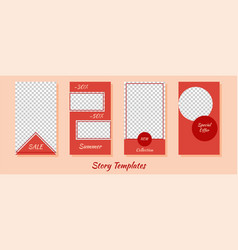 A set minimalist stories for social networks vector