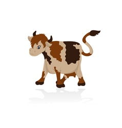 Abstract cow vector image