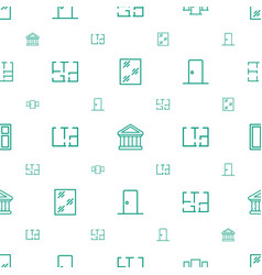 Architectural icons pattern seamless white vector