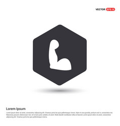 arm icon hexa white background icon template vector image