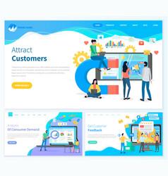 Attract customers analysis consumer demand vector