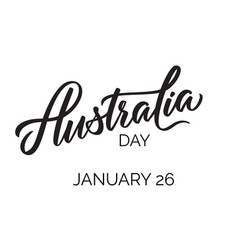 australia day typography lettering vector image
